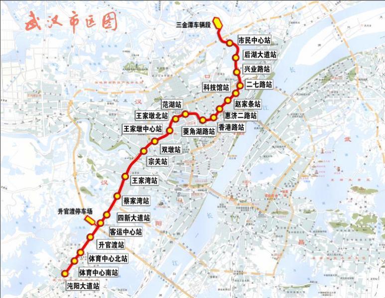 地铁3号线站点及线路走向图.长江商报记者 吴睿 摄