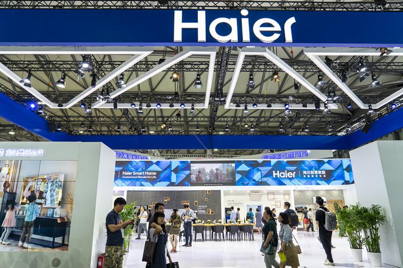海尔打造生态品牌上半年销额增11.5% 搭建物联网共创共赢公益生态圈