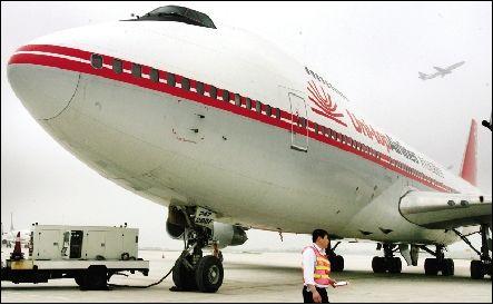 友和道通全货机自2009年6月驶入武汉天河停机坪就