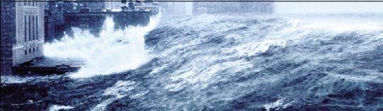 电影《后天》城市遭风暴袭击的场景.cfp图