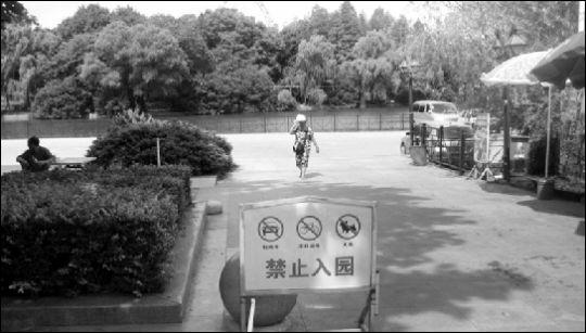 中山公园锻炼场成停车场