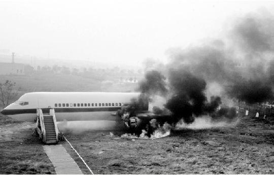 天河机场举行飞机失事救援演练