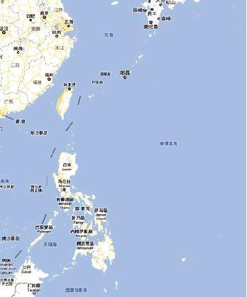 地图显示帕劳群岛(右下角)位置