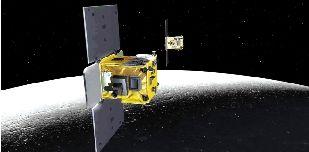 姊妹/美国航天局公布的月球姊妹探测器的假想图。新华社图