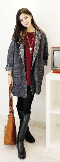 冬季包裙与外套搭配