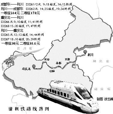 渝利铁路通车武汉到重庆最快8小时
