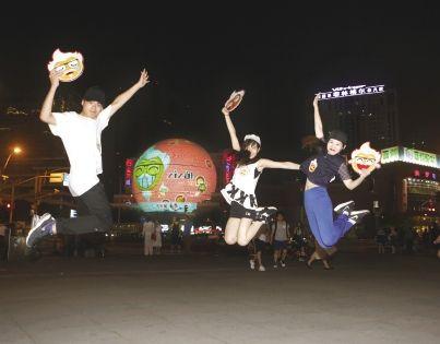 """肯德基""""k-emoji表情""""喜现上海地标图片"""